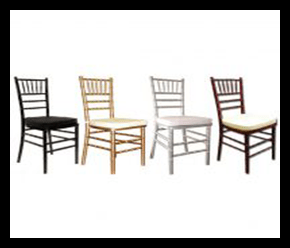 Chiavari chairs multiple Colors $4.00 each with cushion included