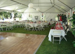 Dance floor for outside occasion
