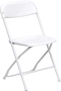plastic white folding chairs