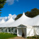 Large white party tents
