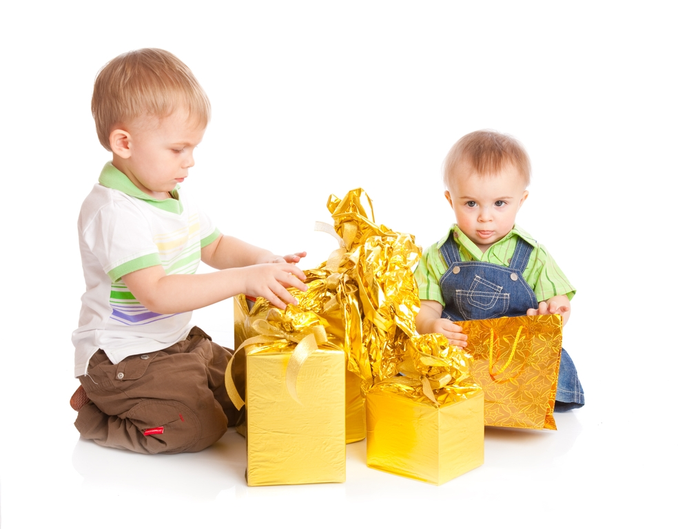 Miami Party Rentals-two boys with gifts