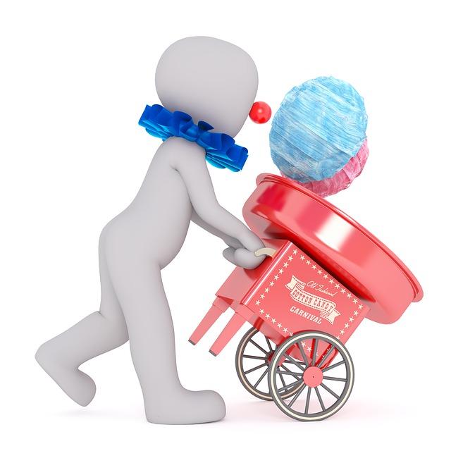 Cotton candy machine treats